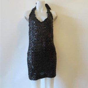 MOSCHINO CHEAP AND CHIC BLACK SEQUIN DRESS 6